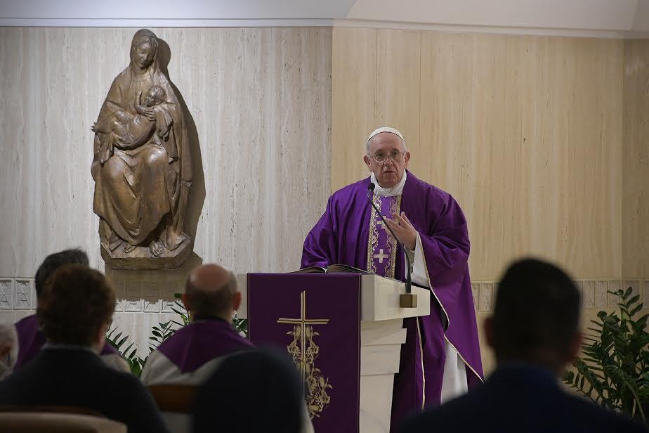 Sainte-Marthe, 4 avril 2019 © Vatican Media