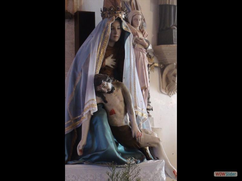 Eglise de Trégornan statue ND de Pitié