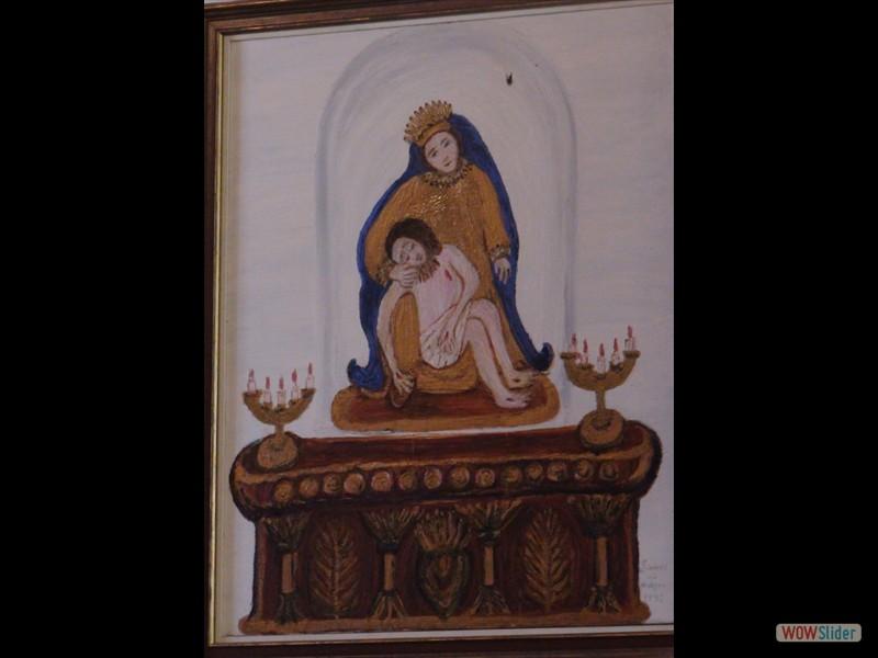 Eglise de Trégornan tableau de Simone Le Moigne ND de Pitié