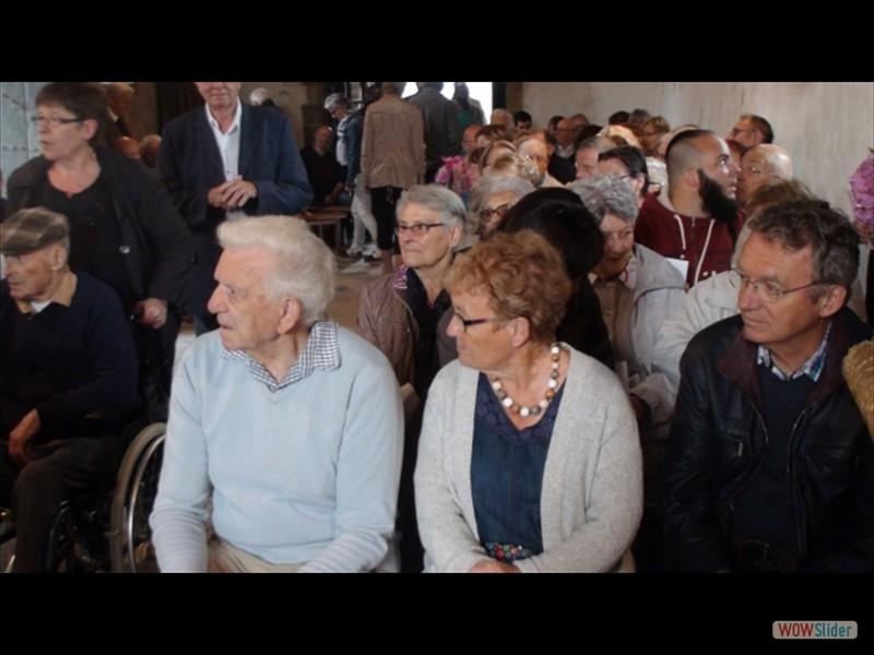 Pardon IV Rosquelfen ND de Bon Secours Laniscat 2017 les pélerins durant la messe. (640x360)