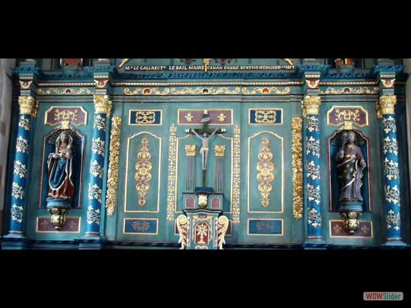 Pardon de Sélédin Retable dans la chapelle 1