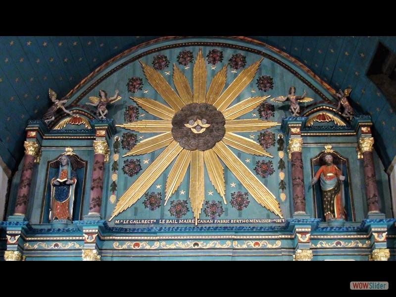 Pardon de Sélédin Retable dans la chapelle 2