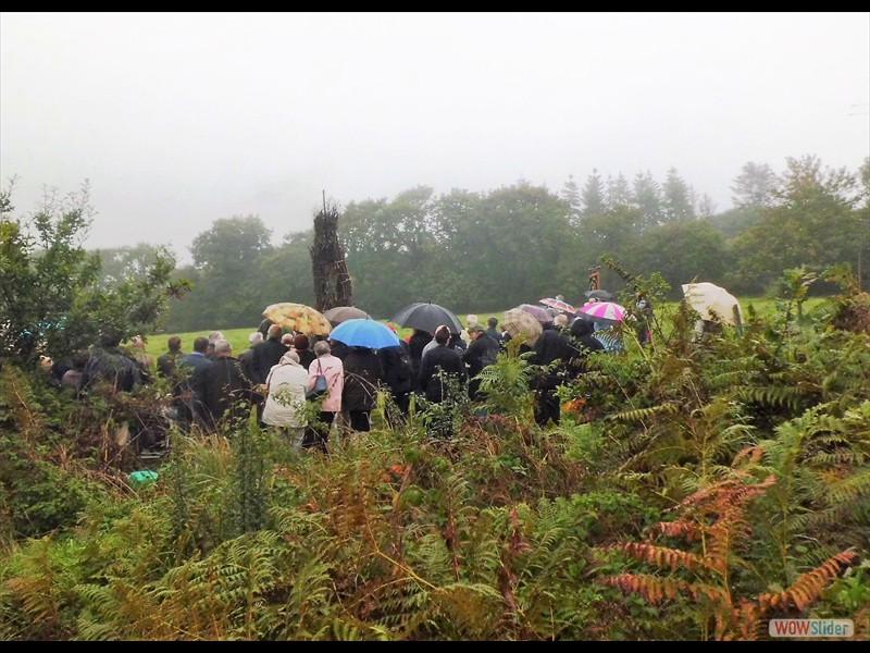 Le tantad sous la pluie